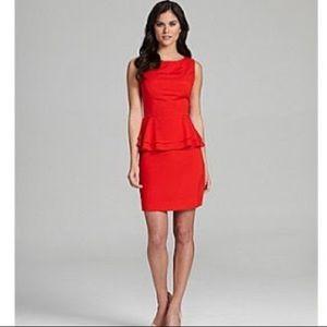 Gianni Bini red dress with peplum detail